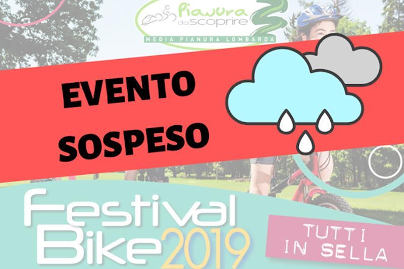 Festival Bike 2019: sospeso per previsioni meteorologiche avverse