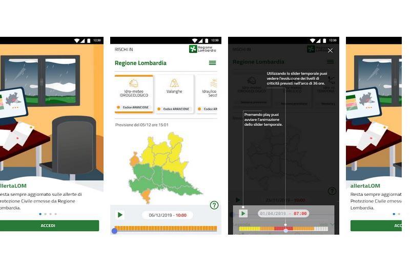 Nuova applicazione che avvisa le criticità meteo nella Regione Lombardia