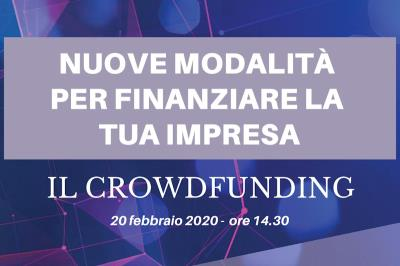 Camera di commercio: seminario gratuito sulle nuove modalità per finanziare l'impresa: il crowdfunding