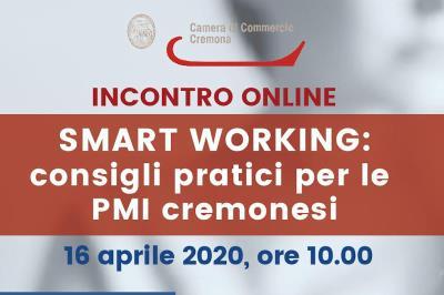 """Seminario online gratuito: """"Smart working: consigli pratici per le PMI cremonesi"""""""