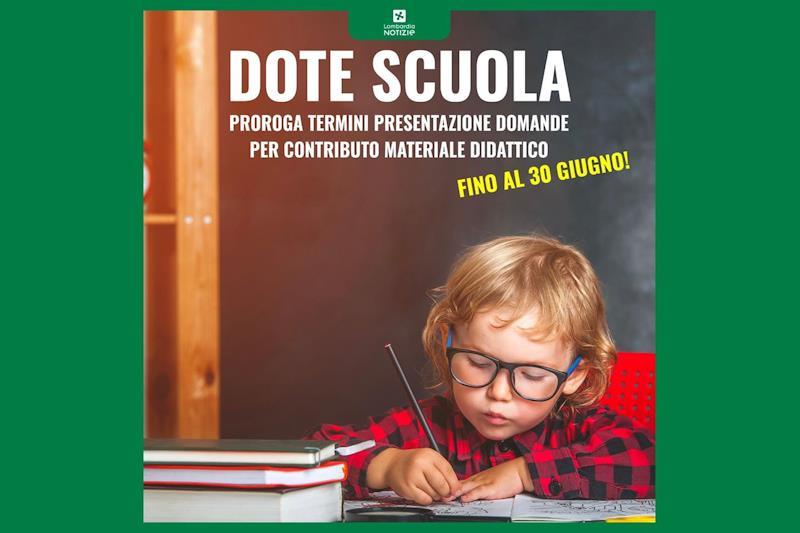 Bando dote scuola di regione Lombardia. Termini prorogati al 30 giugno