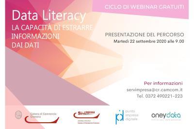 """Camera di Commercio. Presentazione del percorso formativo """"Data Literacy: la capacità di trarre informazioni significative dai dati"""""""
