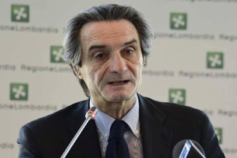 Il presidente di Regione Lombardia Attilio Fontana