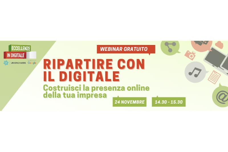Titolo grafico: 'Ripartire con il digitale'