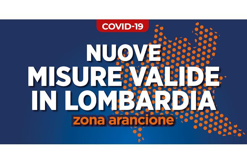 """Scritta grafica: """"Nuove misure valide in Lombardia"""""""