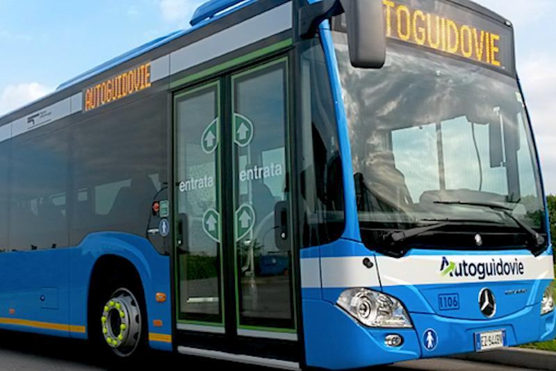 Un autobus di Autoguidovie