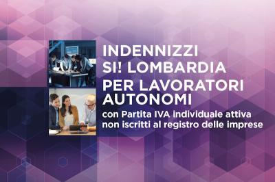 'Sì, Lombardia', Avviso 2 ter. Interventi a sostegno dei lavoratori autonomi
