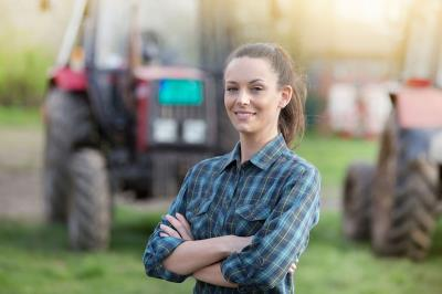 Giovane imprenditrice agricola