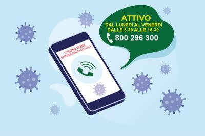 Attivazione numero verde per i genitori degli alunni in sorveglianza sanitaria per coronavirus