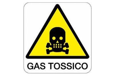 Cartello di avviso: Gas tossico
