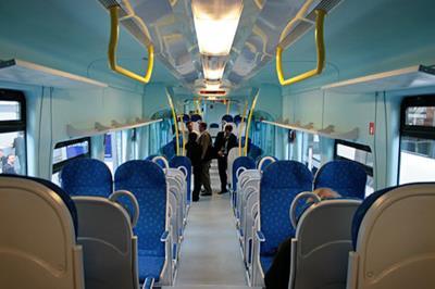 Interno di un convoglio ferroviario