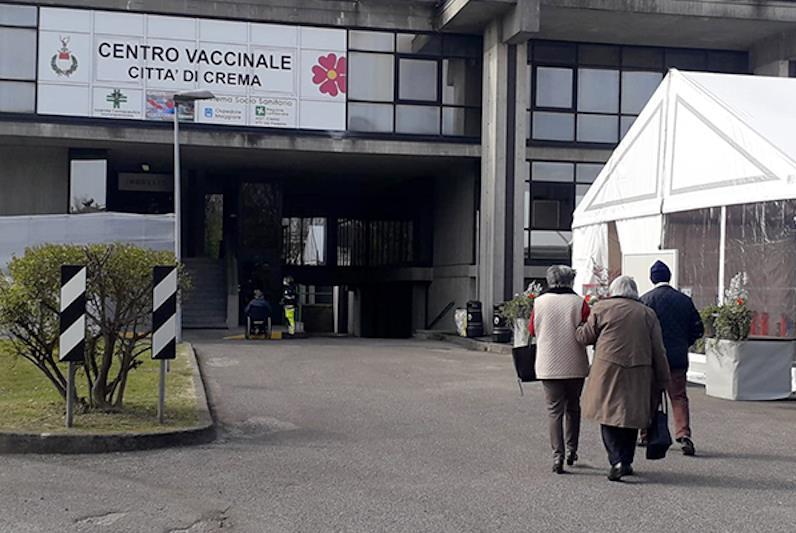 Il centro vaccinale di Crema