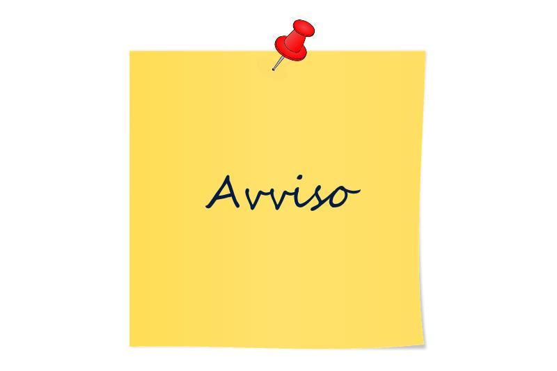 """Postit: """"Avviso"""""""