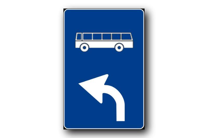 Cartello stradale percorso obbligato bus
