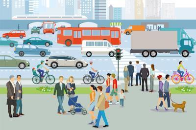 Disegno con vari tipi di trasporto