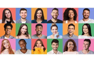 Ritratti di giovani persone