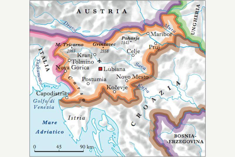 Cartina della Slovenia