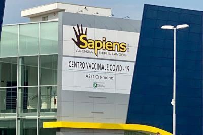 Il nuovo centro vaccinale di Cremona