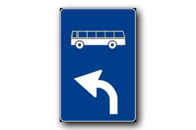 """Segnale stradale: """"Percorso obbligatorio per gli autobus"""""""